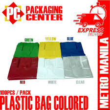 Plastic Bags Colored All Sizes by <b>100pcs per pack</b> | Shopee ...