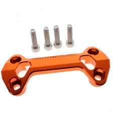 Orange Cnc <b>Handlebar</b> Riser Mount <b>Clamp Cover For</b> Yamaha Fz16 ...