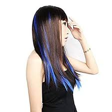 Iyaan <b>Colored</b> Highlight Synthetic Hair Extensions Clip in One Piece ...