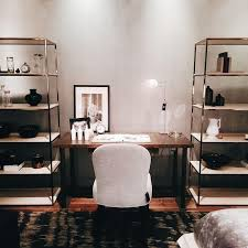 only having a small space for home office carve it out in the bedroom here bookcase by desk by and side chair by make up a lively workspace bedroom chairs small spaces office