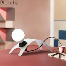 <b>Nordic Design Table</b> Lamp <b>Led</b> Puppy <b>Desk</b> Lamp for Bedroom ...