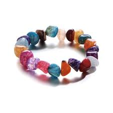 New <b>Natural</b> Stone <b>Colorful</b> Bracelet High Quality Irregular Ice ...