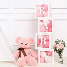 <b>QIFU Alphabet Transparent Packing</b> Box Wedding Balloon Box ...
