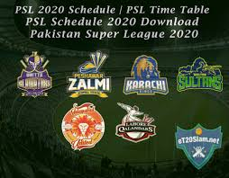 PSL 2020 Schedule | PSL Time Table - Euro <b>T20</b> Slam Schedule