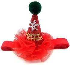 NINGYE <b>Christmas</b> Hat for Cat <b>Dog</b>,<b>Sequined</b> Lace Headwear Cap ...