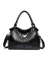 VERYVOGA <b>Solid Color</b> Genuine leather Satchel/<b>Shoulder Bags</b> ...