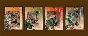 """Resultado de imagem para Emissão de selos """"Café"""""""