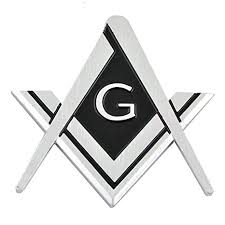 Square & Compass <b>Chrome</b> Finish <b>ABS</b> Plastic <b>Car Auto</b> Emblem - 3 ...