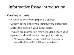 informative essay sample how to write an essay with sample essays  informative essay an introduction informative essay introduction informative essay