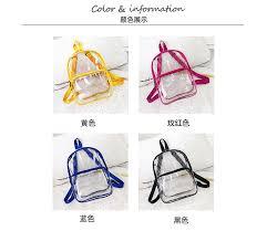 Small Waterproof Clear <b>Transparent Backpack Women</b> Men <b>Female</b> ...