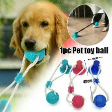 Multifunction <b>Pet Molar</b> Bite <b>Toy Dog Cat</b> Toy Safe Elasticity ...
