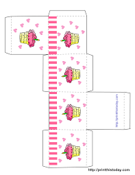 cupcake boxes template printable printable birthday favor cupcake boxes template printable printable birthday favor boxes templates print this