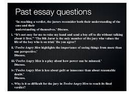 twelve angry men updated  past essay