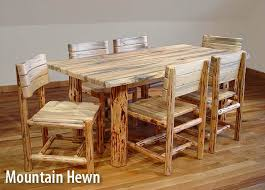 chair dining room tables rustic chairs: rustic log dining table and chairs