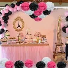 Tissue Paper Pom Poms Flower Ball Party Hanging Decor <b>12Pc</b> ...