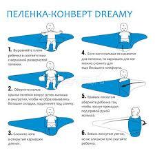 <b>Пеленка</b>-<b>конверт Витоша Dreamy</b> 50 см: купить, цена, фото