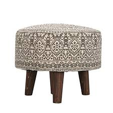 Nestroots Stool for Living Room sitting <b>printed</b> ottoman upholstered ...