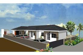 Plan for two bedroom rentals   Daily MonitorThe illustrations are of a two bedroom house   facilities for a small family or