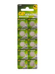 Алкалиновые дисковые <b>батарейки 189A</b> 10 шт. <b>GP</b> 6914416 в ...