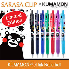 Zebra SARASA CLIP KUMAMON Gel <b>Ink</b> Rollerball Clear color ...