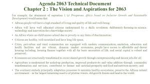 agenda 2063 technical team auc agenda 2063 the africa we want agenda 2063 technical document chapter 2 the vision and aspirations for 2063 for example