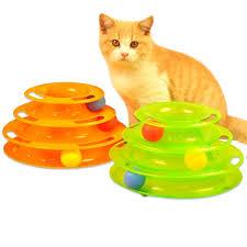 Funny <b>Pet Cat Kitty</b> Crazy Ball Disk Interactive Amusement Plate ...