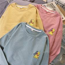 harajuku <b>funny Cartoon</b> embroidery <b>t shirt</b> autumn long Sleeve ...