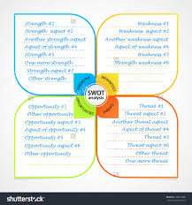sheet swot analysis diagram wit space stock vector  sheet swot analysis diagram wit space for own strengths weaknesses threats and opportunities