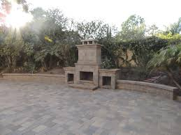 outdoor fireplace paver patio: outdoor fireplace san diego c and r pavers backyard