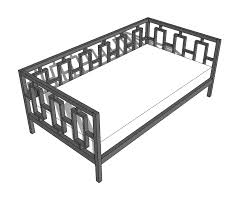 ana white rectangles day bed diy projects building frame day bed