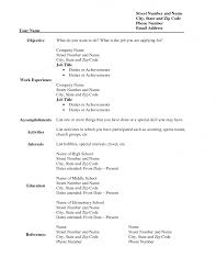 resume format form blank  seangarrette coresume