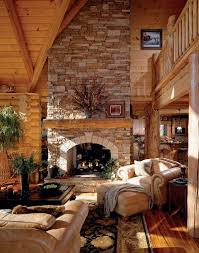 rustic country cabin wildlife decor wolves rectangle  extremely cozy and rustic cabin style living rooms