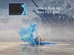 Frozen meme - 5 gum - funny   Disney   Pinterest   Frozen Memes ... via Relatably.com