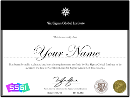 lean six sigma green belt certification online ssgi green belt certification