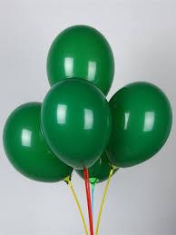 <b>Набор воздушных шаров</b> зеленые - 10шт 30см Мосшар 9647997 ...