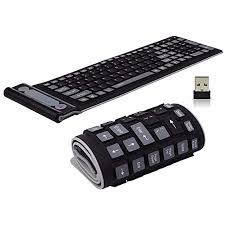 Onlywe <b>2.4G Wireless</b> Keyboard Waterproof <b>Folding</b> Silicone107 ...