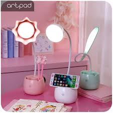 Artpad <b>Pink</b> Green Lovely Student <b>LED Desk</b> Lamp with Touch ...