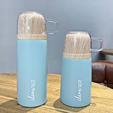 Buy 2Pcs Insulated Cups Kit Simple <b>Creative Stainless Steel</b> Cups ...