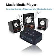 sound system wireless: excelvan bt wireless music adapter home car spe