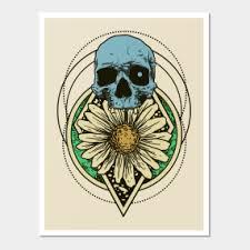 <b>Skull Flower</b> Posters and <b>Art</b> Prints | TeePublic