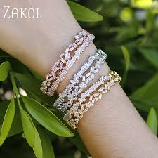 <b>ZAKOL</b> Luxury Brand Design <b>Fashion</b> AAA Cubic Zircon Multi ...