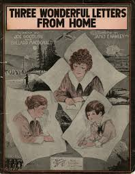 letters from over there brown in the great war three wonderful letters from home 1918 world war i sheet music