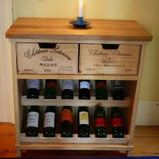 Rustic Wine Rack From The Front  Pinterest