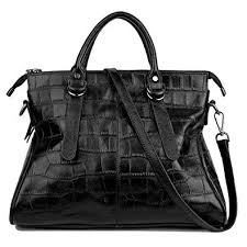 YALUXE <b>Women's</b> Bidirectional Zipper <b>Croco Pattern</b> Leather ...