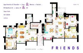 Incredibly Detailed Floor Plans Of The Most Famous TV Show HomesFriends