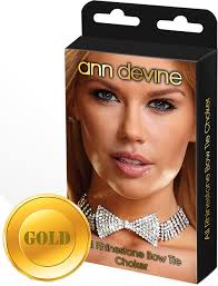 <b>Ожерелье</b>-<b>бабочка</b> из блестящих кристаллов <b>Ann Devine</b>, золотой