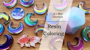 Mini <b>Resin</b> Tutorials: <b>Resin</b> Coloring (Color Shifting, Pearlescent ...