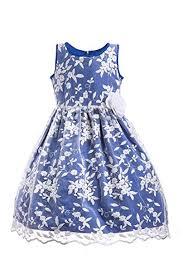 Emma Riley Girls Embroidered Party Dress Wedding ... - Amazon.com
