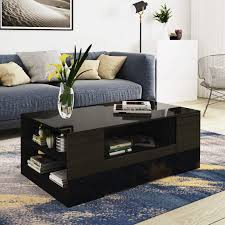 Tables <b>High Gloss</b> Wooden <b>Coffee</b> Table with 4 Storage Drawers ...