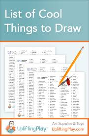 list of things to draw for kids fun things to draw cool things list of cool things to draw for kids 125 ideas of what to draw